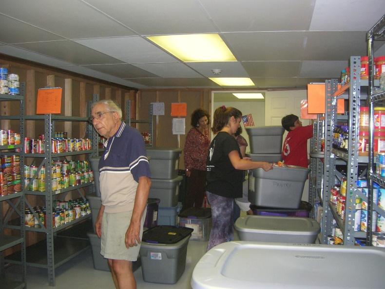 Harold & Paula at the Food Pantry